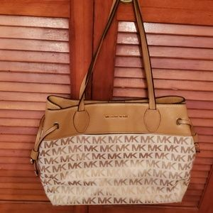 Michael Kors Tan Logo Shoulder Bag